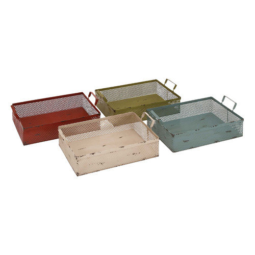 Woodland Imports The Dutiful Metal Basket (Set of 4)