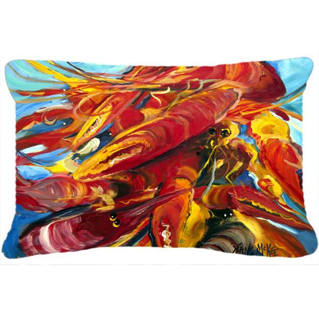 Carolines Treasures JMK1117PW1216 Crawfish Canvas Fabric Decorative Pillow - image 1 de 1