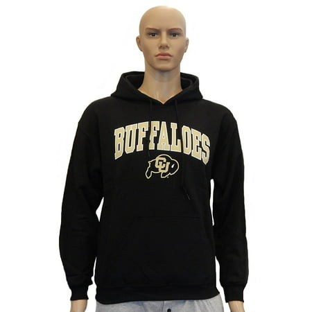 - University of Colorado Buffaloes Mascot Officially Licensed Logo Pullover Hooded Fleece Sweatshirt Hoodie (Large)
