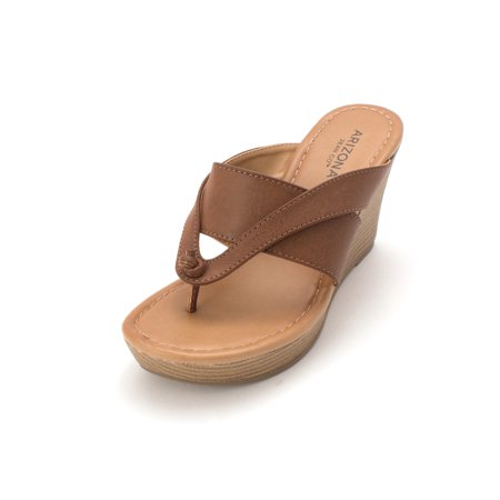 Arizona Jean Co Womens Carmen Split Toe Casual Slide Sandals