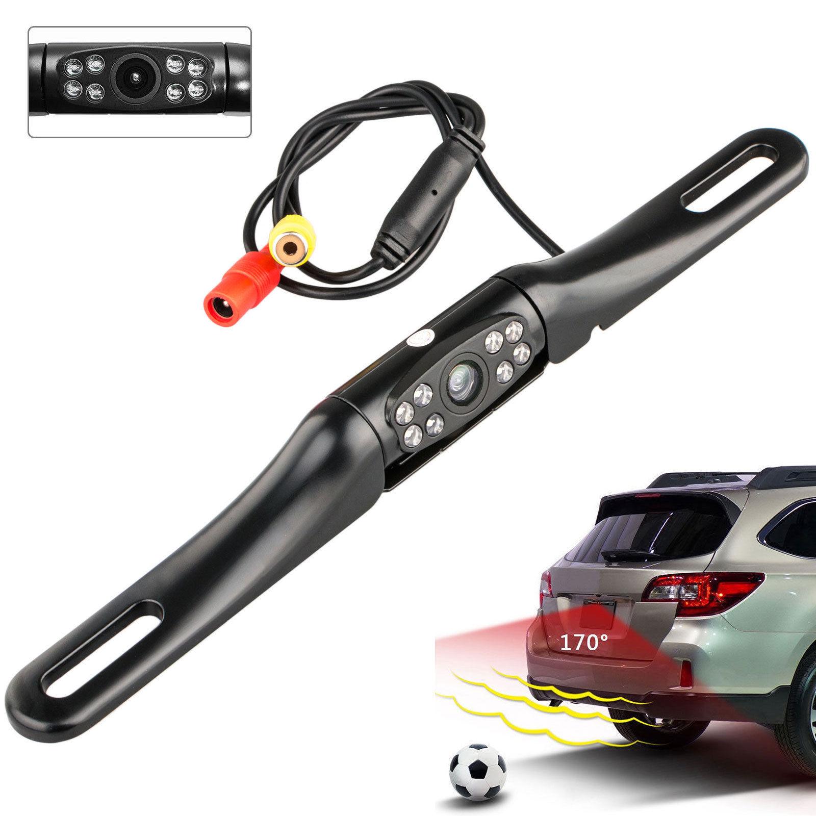 Waterproof 170 Degree Car Rear View Reverse License Plate Camera Night Vision