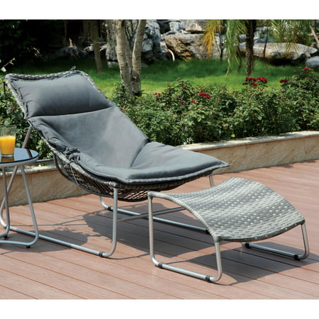 Furniture of America Utica Contemporary Style Outdoor Lounge Chair ()