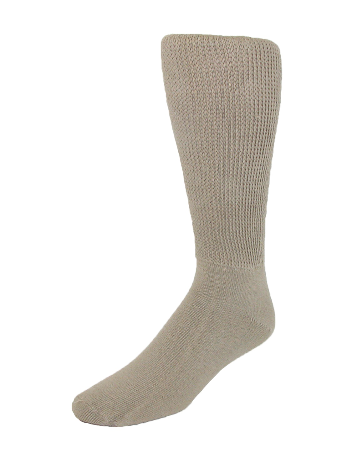 Size Large Mens Cotton Mid Calf Athletic Socks, Black