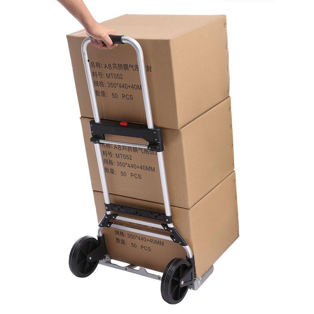 061edc7b348b Portable Folding Heavy Duty Telescoping Hand Truck Dolly Luggage Carts TPBY