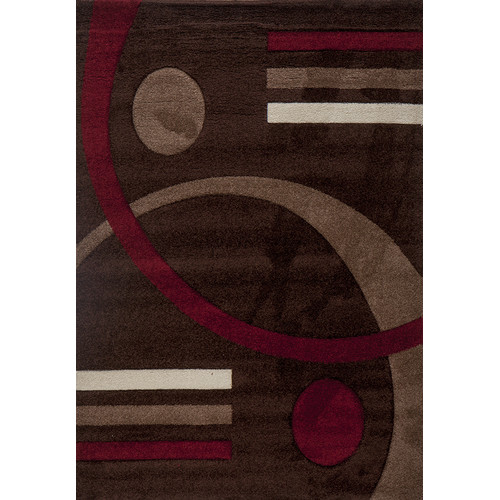 Luxury Home Milano Postmodernist Venn Diagram Area Rug