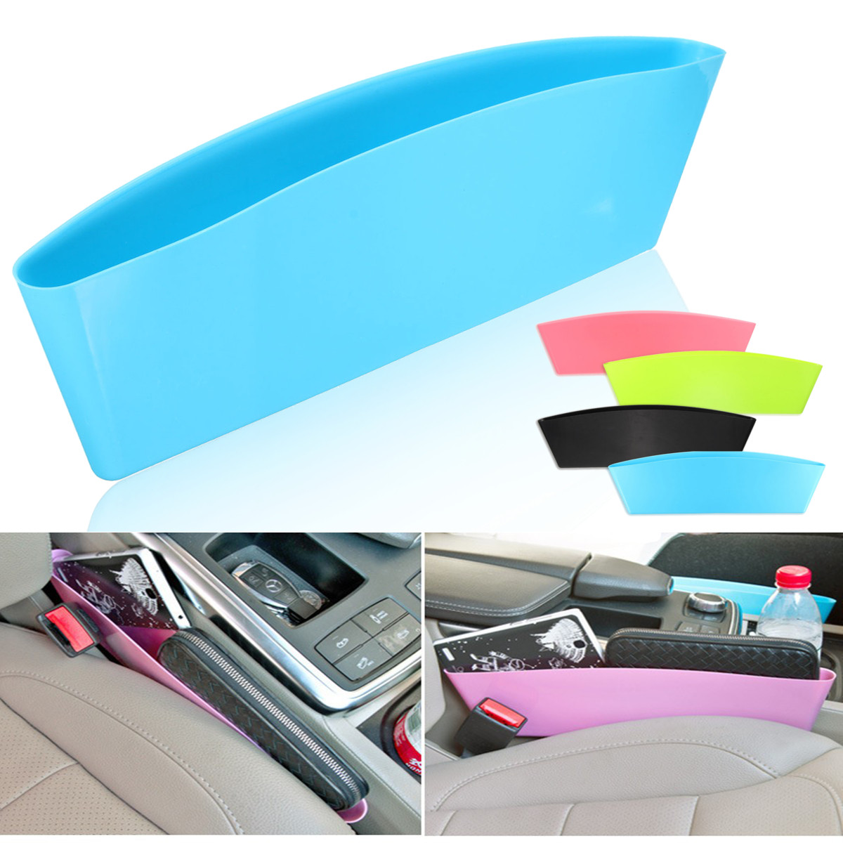 Universal Car Storage Pouch Bag Box Holder Seat  Slit Pocket Organizer Catch