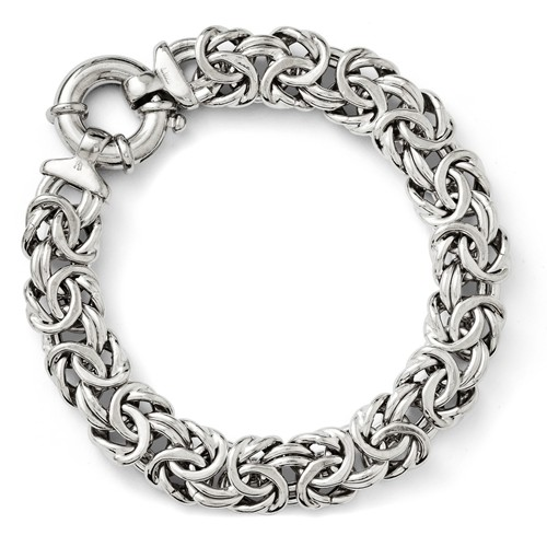 Sterling Silver 7.5in Fancy Link Bracelet