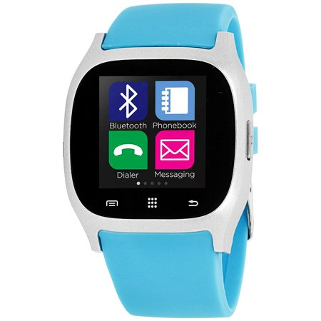 Itouch Silicone (iTouch Smartwatch Silver Case with Turquoise Strap)