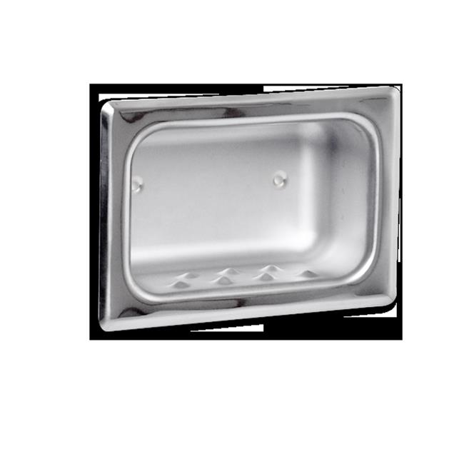 AJW UX82-SF Satin Soap Dish With Mounting Holes- Recessed