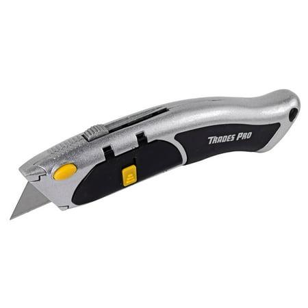 Trades Pro Auto Loading Box Cutter Utility Knife - 837356 - Walmart.com