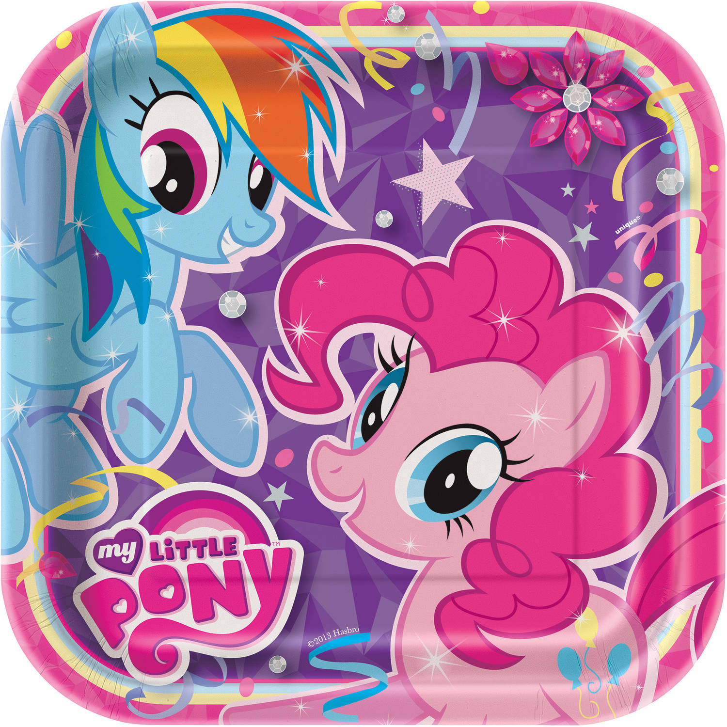 """9"""" Square My Little Pony Party Plates, 8ct"""