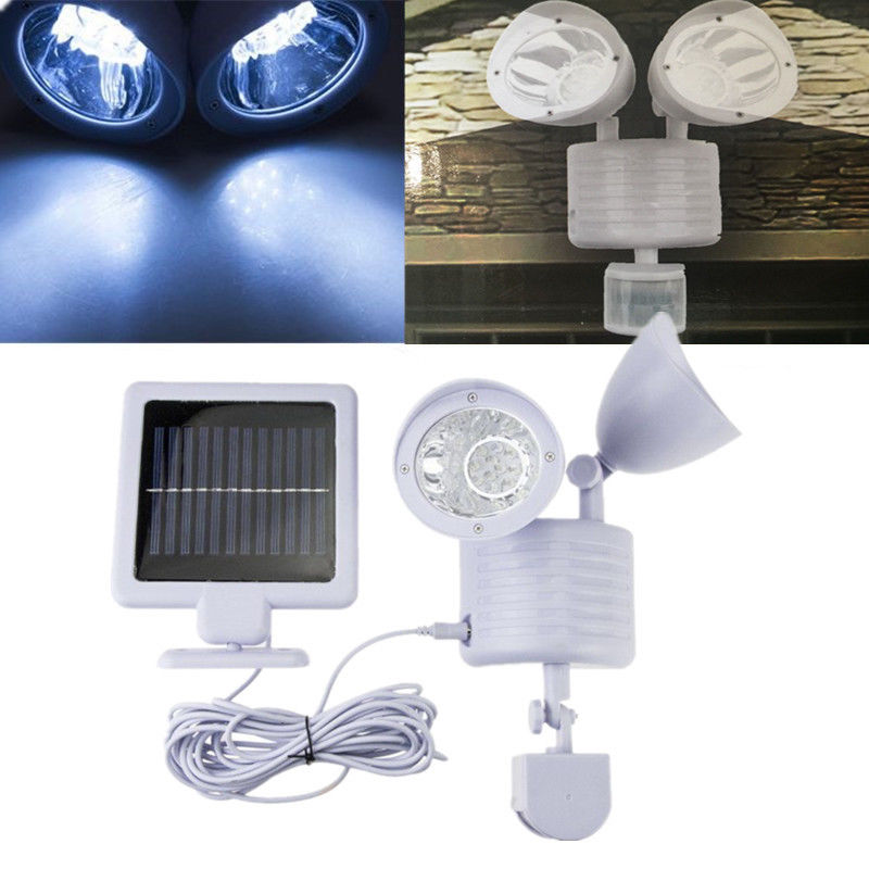 Led Solar Powered Light with Motion Sensor for Home Garage Security Led Outdoor Light Lamp