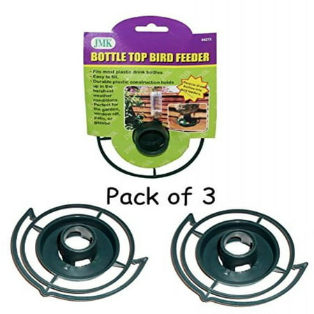 - Easy to Make your Own - recycle empty SODA pop Bottle Top BIRD FEEDER (Green - Pack of 3)