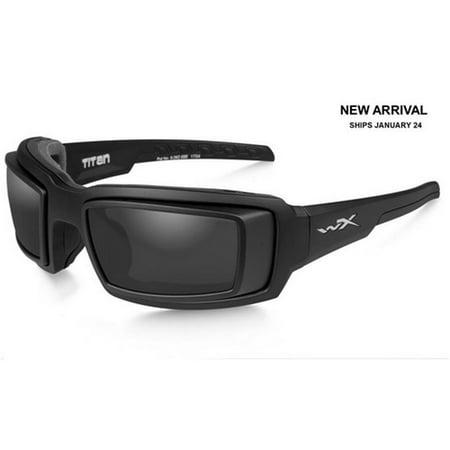 Wiley X CCTTN01D WX Titan Sunglasses w/RX Rim Matte Black Frame & Grey Lens (Rx Sunglasses)