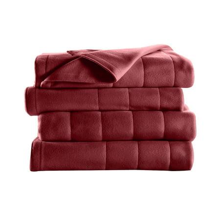 Sunbeam Electric Heated Fleece Channeled Blanket, Twin (Best Electric Blanket Twins)