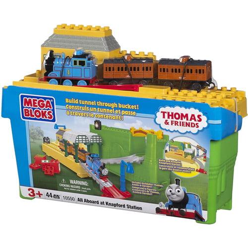 Thomas & Friends Mega Bloks All Aboard at Knapfod Station Play Set