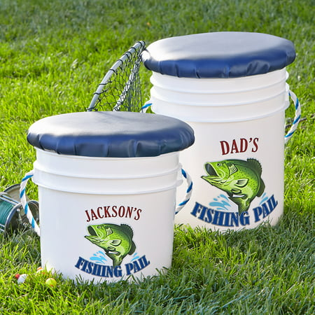 Personalized Fishing Pail, Adult - Personalized Halloween Pails