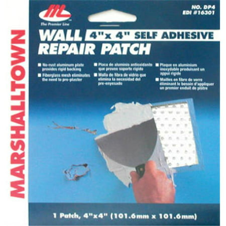 MARSHALLTOWN TROWEL Drywall Patch Kit, 4 x 4-In. (Best Way To Patch Drywall)
