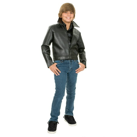 0827aa4d9 Grease Leather Boys Movie Halloween Jacket - Walmart.com