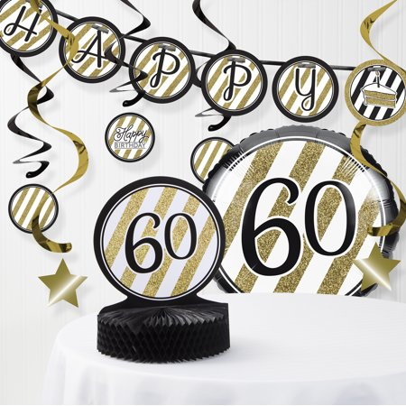 Elegant 60th Birthday Decorations (Black and Gold 60th Birthday Decorations)