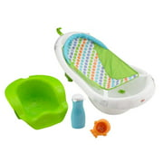 Fisher-Price 4-in-1 Sling Seat Convertible Baby Bath Tub, Green.