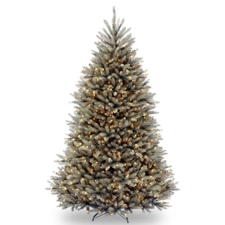 National Tree Pre-Lit 7-1/2' Dunhill Blue Fir Hinged Artificial