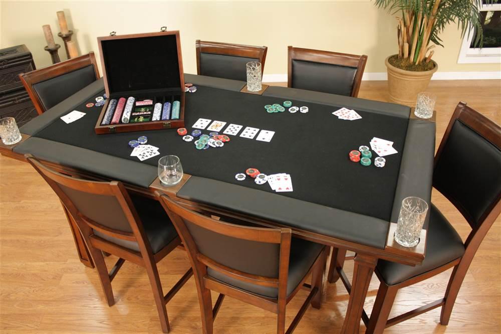 Wonderful Burlington 7 Piece Convertible Game Table Chairs Set Com