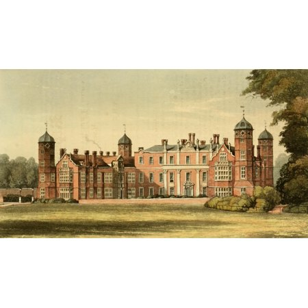 Cobham Hall - Repository of Arts 1817 Cobham Hall Canvas Art - Thomas H Shepherd (24 x 36)