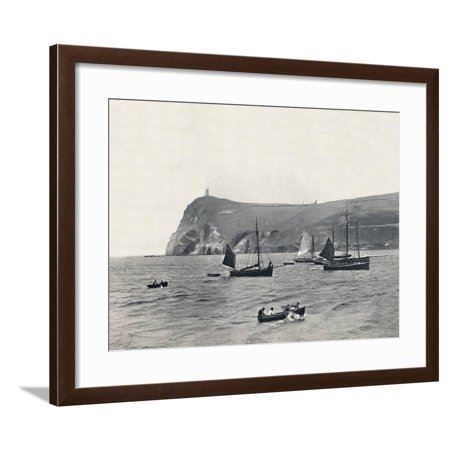'Port Erin - Bradda Head, with the Milner Tower', 1895 Framed Print Wall