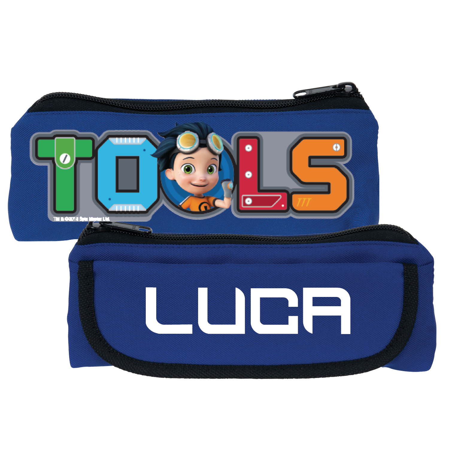 Rusty Rivets Blue Pencil Case