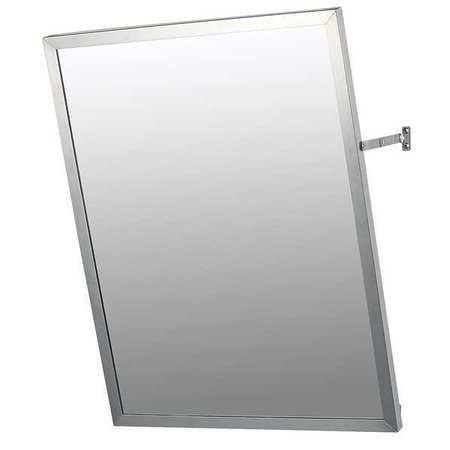 (KETCHAM Adjustable Tilt Mirror, Stainless Steel, 36