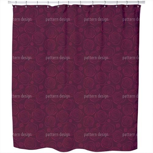 Her Beloved Roses Shower Curtain Extra Long (70 inches X 90 inches)