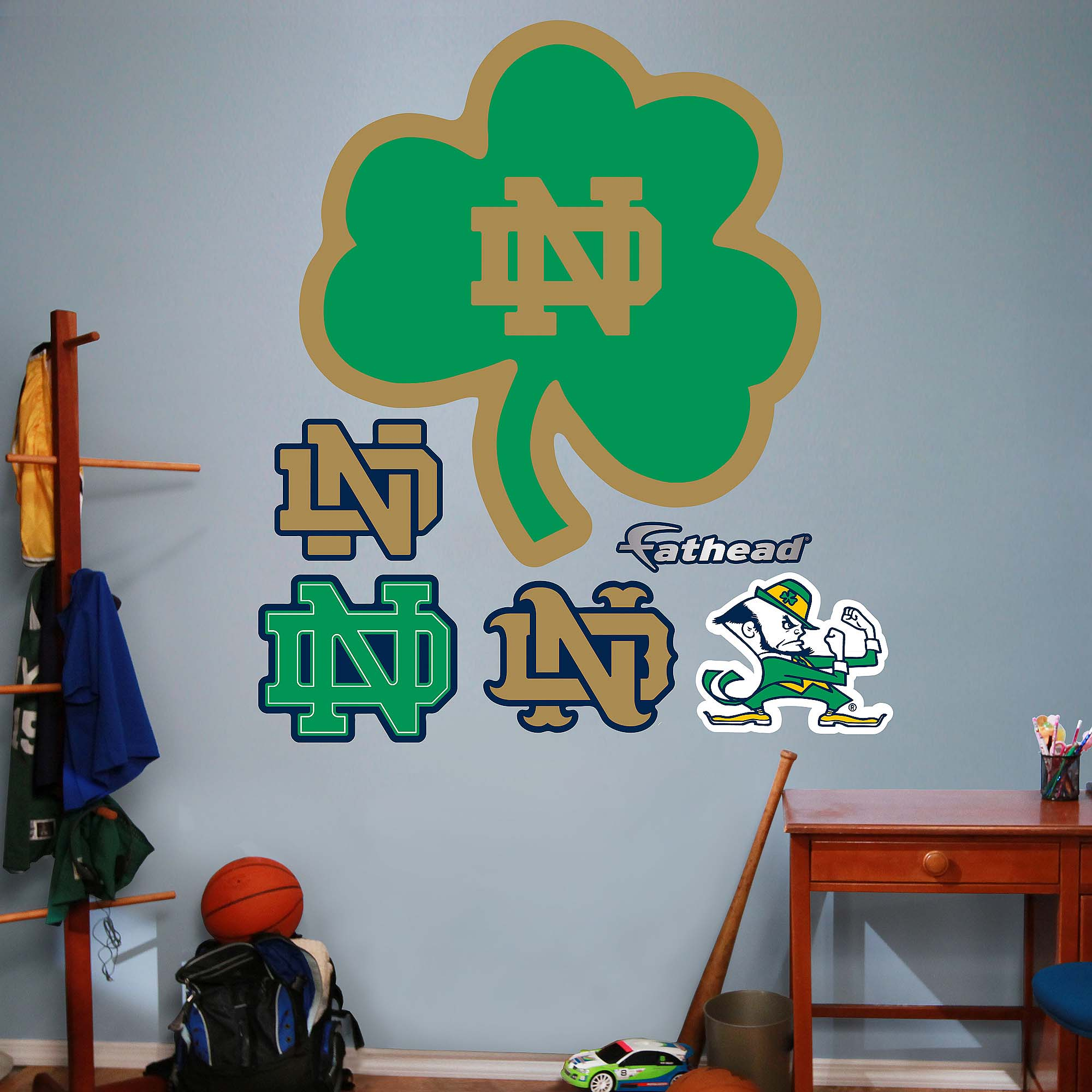 Notre Dame Green ND Logo