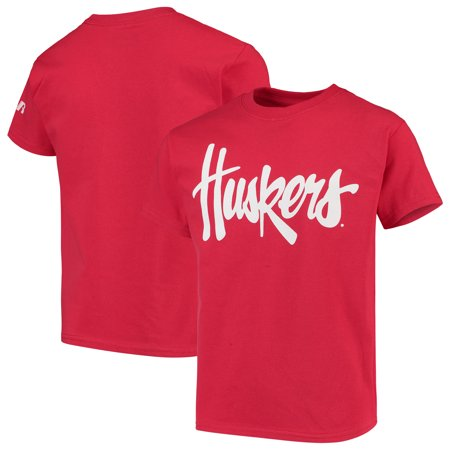 Nebraska Cornhuskers Russell Youth Oversized Graphic Crew Neck T-Shirt - Scarlet