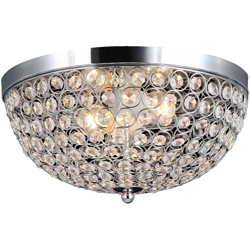 elegant designs 2light elipse crystal flush mount ceiling light