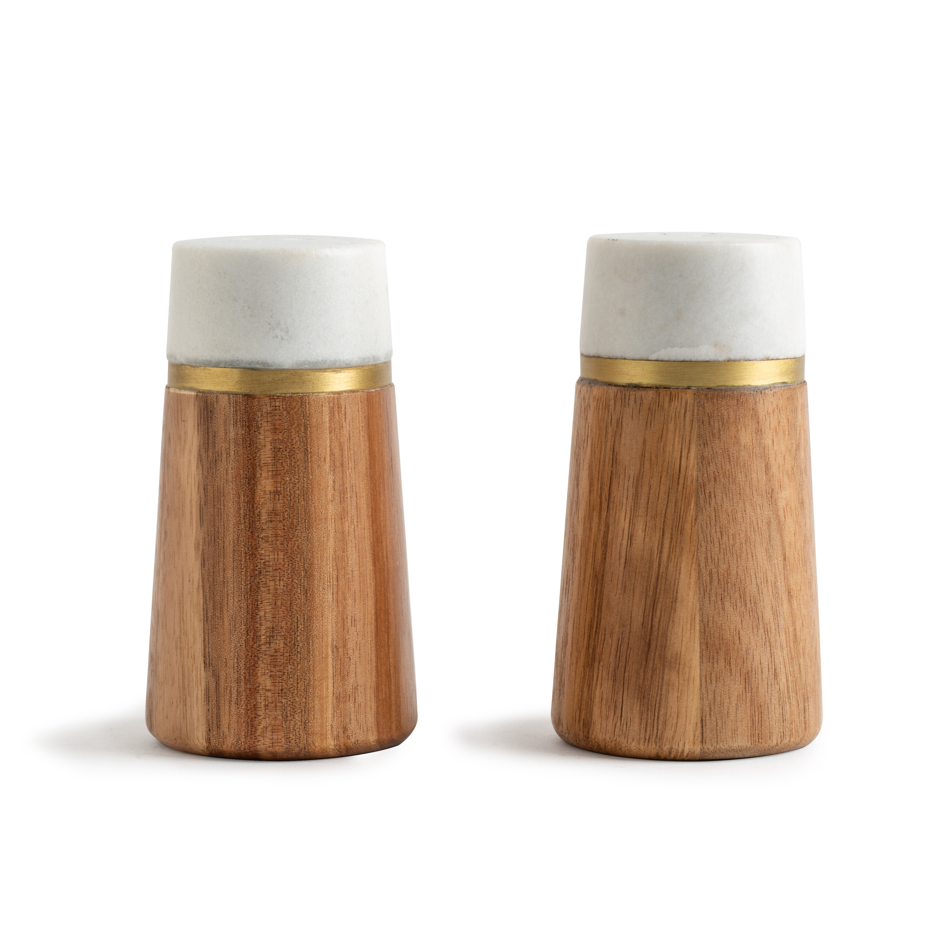 Better Homes & Gardens Salt and Pepper Set, Acacia Wood and Marble