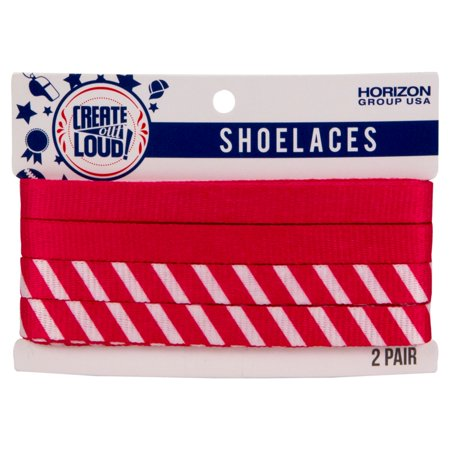 Image of Create Out Loud Shoelace Set in Pink & Pink/White Stripes