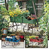 Blue Amish Wagon Decorative Garden Planter