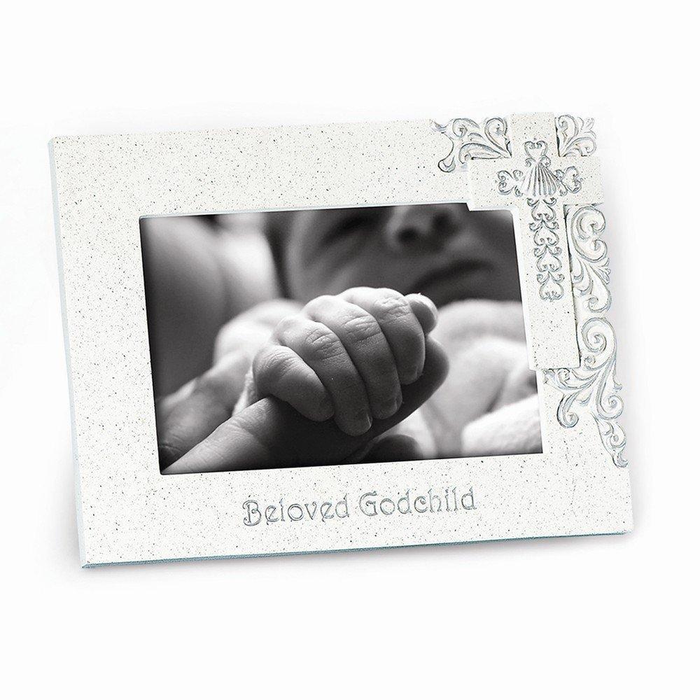 beloved godchild silver scroll frame - Walmart.com