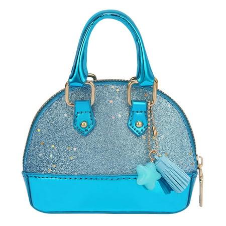 HDE Glitter Purse Princess Small Crossbody Dome Fashion Purse for Little -