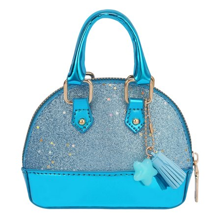 HDE Glitter Purse Princess Small Crossbody Dome Fashion Purse for Little -