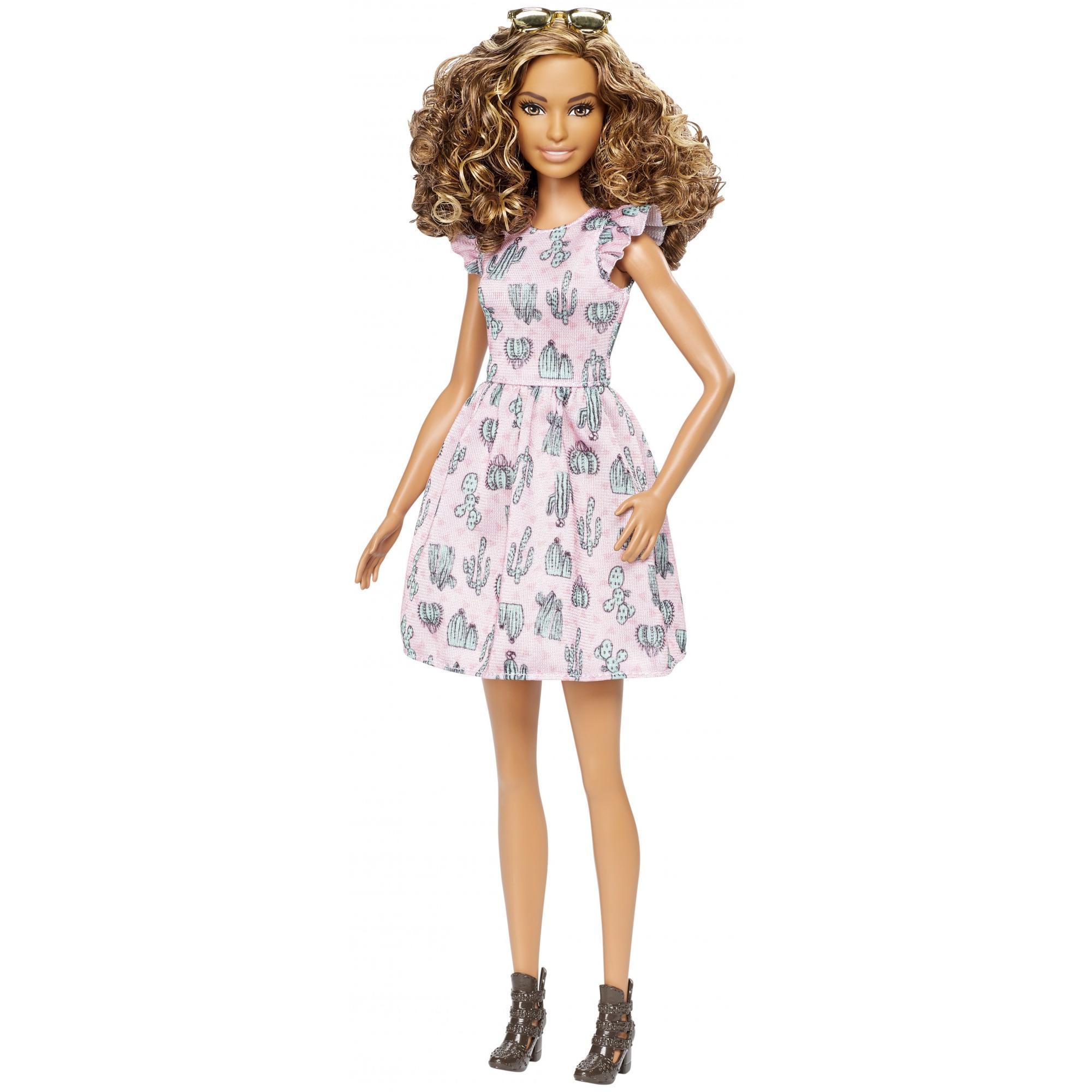 Barbie Fashionistas Doll Cactus Cutie, Tall Body Doll by Mattel
