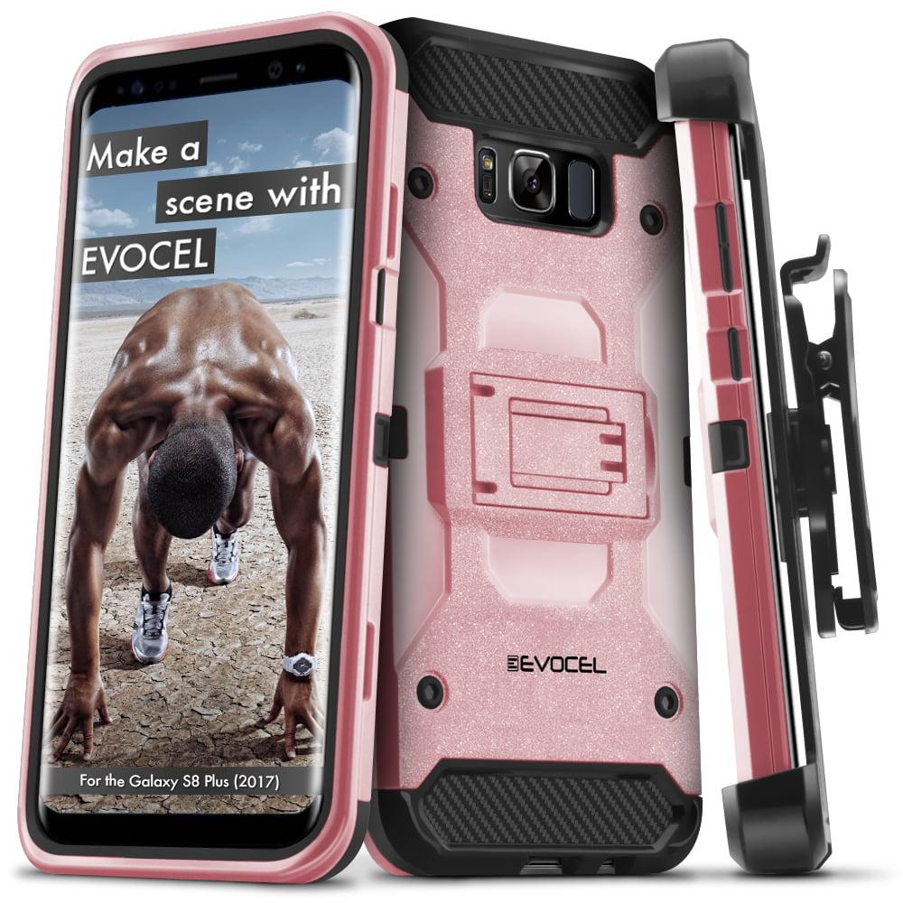 Galaxy S8 Plus Case, Evocel [Belt Clip Holster] [Kickstand] [Tri Layer] [Textured Body] Trio Pro Series Phone Case for Galaxy S8 Plus (SM-G955) (2017 Release), Black