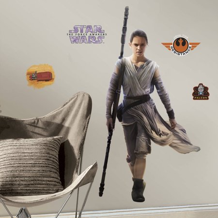 RoomMates Star Wars Episode VII Rey Peel and Stick Giant Wall Decal