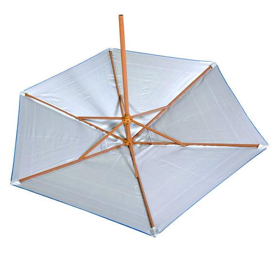 fa6afd0fbc 7 - 8 ft Beach Umbrella | Patio Market Umbrellas UPF100 Wood Grain Finish  Frame, Carry Bag