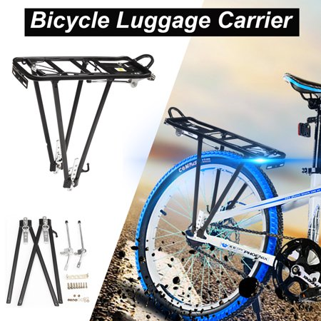 Seatpost Pannier Rack (Heavy Duty Aluminum Alloy Bicycle Cycle Bike Seat Post Frame Carrier Holder Cargo Racks Rear Pannier Rack Luggage Carrier Fits Size 24''-28'' Wheels Stream Liner)
