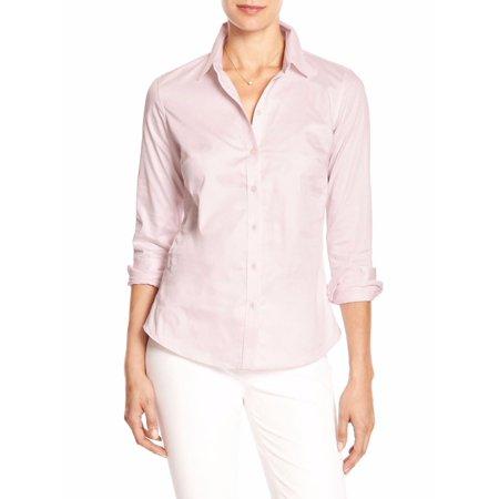 New  14640 Banana Republic Women's Tailored Non-Iron Button Down Shirt Pink 0 $59