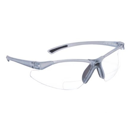 C2-125 Bi-Focal Reading Safety Glasses with Clear 2.5 Lens, Bi-focal glasses combines protective safety glasses with reading glasses By (Safety Glasses With Reading Lens)