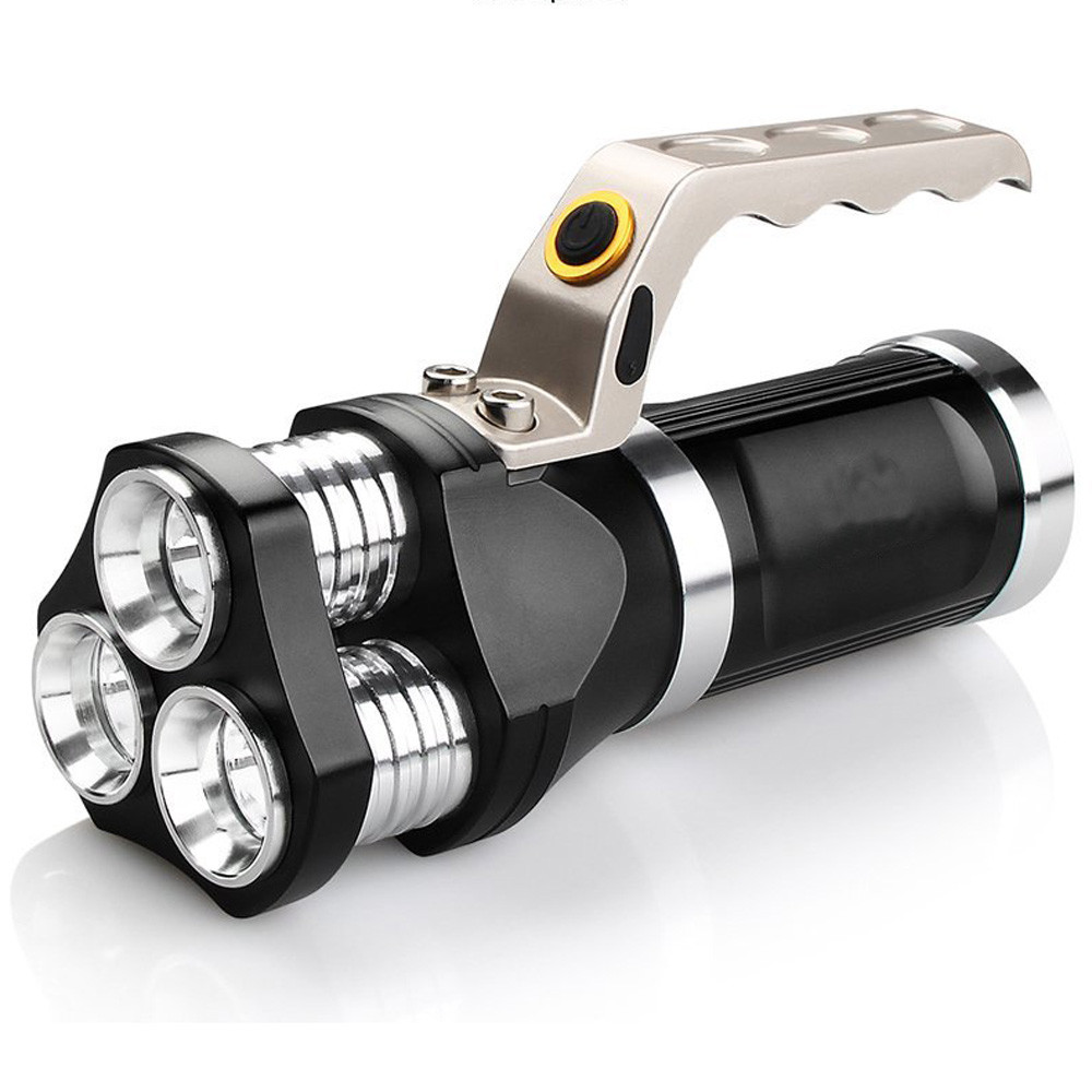 Rechargeable LED Searchlight Tactical Flashlight 3T6 Spotlight 9000 Lumens