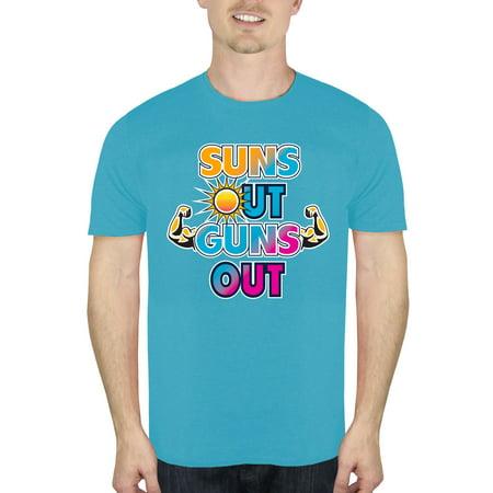 Men's Suns Out Guns Out Beach Graphic T-Shirt, up to Size (Suns Out Guns Out Shirt Tank Top)